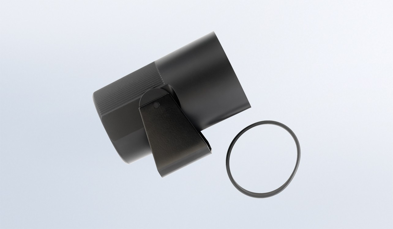 Plastic Mounting Cup for 2 1/16 Gauges - Black