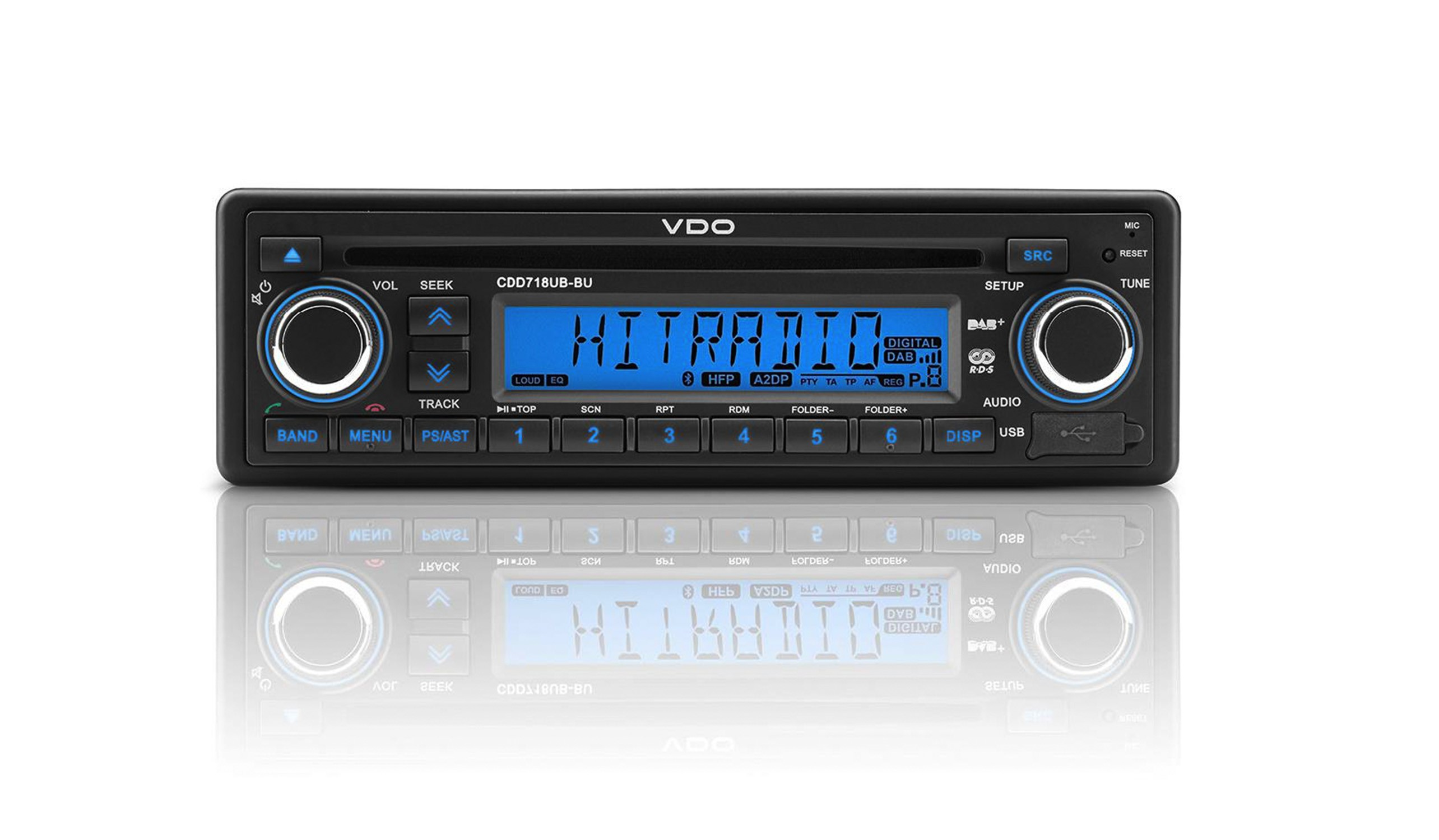 VDO Radio AM/FM Radio with CD and USB/AUX/BT input 12V