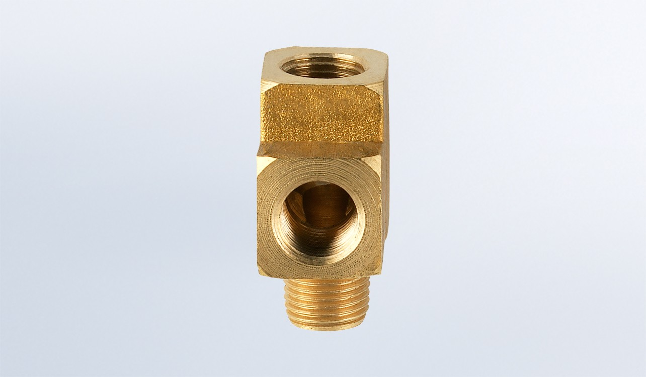 Brass T Adapter 1 8 27nptf Vdo Instruments And Accessories