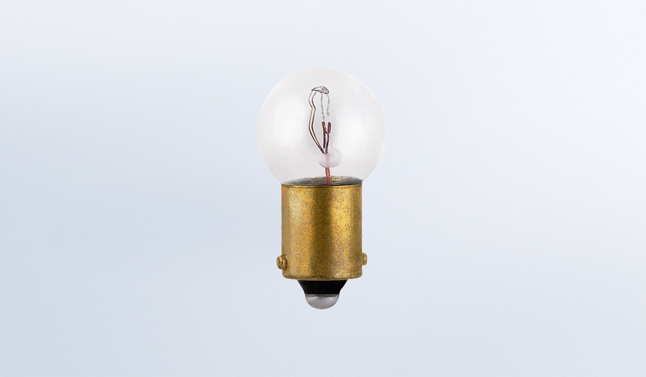 "Type C 3/8"" (10mm) Metal Base Bulb, 12V, 2W, 4 Pack"