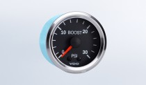 Vision Chrome  30 PSI Mechanical Boost Gauge, 12V