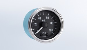 Series 1 100 PSI Mechanical Oil Pressure Gauge with Tubing Kit and US Thread Adapters