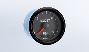 Cockpit 15 PSI Mechanical Boost Gauge with Tubing and Metric Thread Adapters