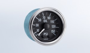 Series 1 150 PSI Mechanical Oil Pressure Gauge with Tubing Kit and US Thread Adapters