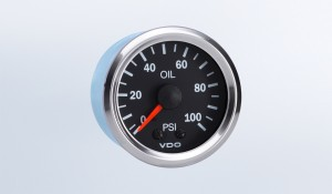 Vision Chrome 100 PSI Mechanical Oil Pressure Gauge, 12V