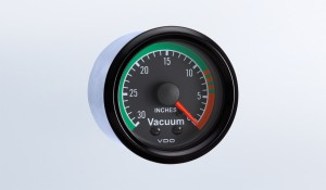 "Cockpit 30"" HG Vacuum Gauge with Tubing Kit"