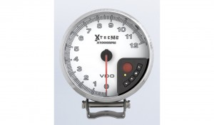 0-12K RPM Xtreme Performance Tachometer Black with shift light, peak RPM recall and memory functions.