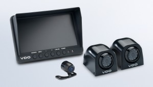 "Standard View Cameras 7"" Quad Display with 2 Side Mount Cameras and 2 Large Rear View Cameras"