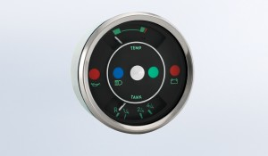 "356 Gauges ""356"" 100mm Temperature & Fuel Gague with Warning Lights"