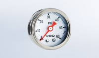 "Mini Pressure Gauges Direct Mount 60 PSI Mechanical Pressure Gauge, 1 1/2"" Diameter, White Dial"