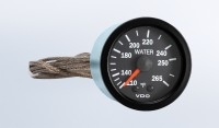 "Vision Black  265°F Mechanical Water Temperature Gauge wit 72"" Capillary, 12V"