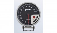 Racing Tachometers 0-12K RPM Xtreme Performance Tachometer Silver with shift light, peak RPM recall and memory functions.
